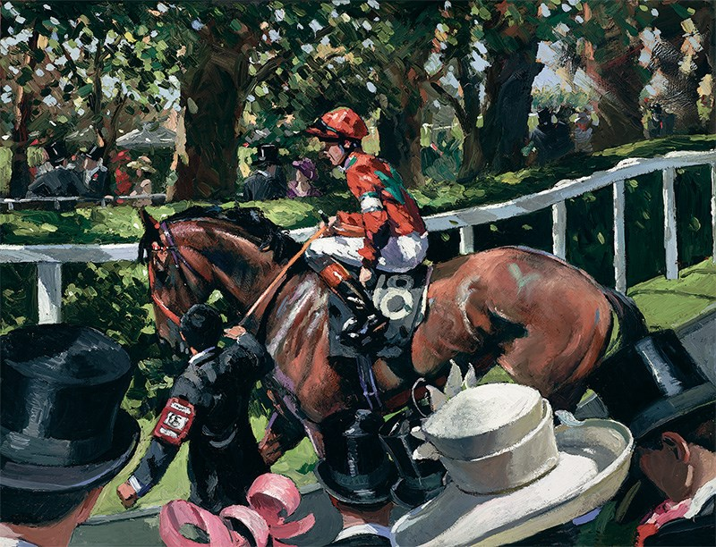 Ascot Race Day II by Sherree Valentine Daines - Limited Edition on Canvas sized 17x13 inches. Available from Whitewall Galleries
